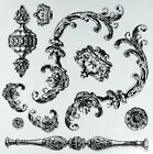 Prima Marketing 814335 Louis Iron Orchid Designs Decor Stamps Clear New