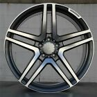 18 S65 STYLE GREY STAGGERED WHEELS RIMS FITS MERCEDES BENZ C240 C280 C350 C320