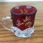 Ruby Flash Glass Antique From The 1901 PAN AM Worlds Fair In Buffalo NY Engraved