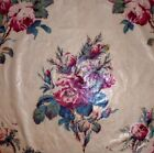 Beautiful Timeworn 19thC Antique French Floral Cotton Chintz Fabric 24