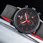 DETOMASO Milano Mens Watch Chronograph Black Red Stainless Steel Day