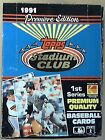 1991 Topps Stadium Club Baseball Series 1 Box 36ct. Premiere Edition Look!!