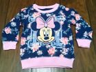 Minnie Mouse 12 Month Baby Toddler Girl Floral Sweatshirt Fall Clothes Top Shirt