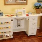 ARROW NORMA JEAN SEWING MACHINE CABINET WITH AIR LIFT WHITE NO QUILT LEAF
