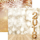 Reminisce HAPPY 2018 12x12 Dbl Sided 2pc Scrapbooking Papers NEW YEAR