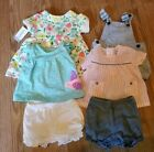 INFANT GIRLS LOT OF 6 SUMMER OUTFITS size 6 MONTHS carters