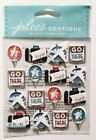 Scrapbooking Crafts Stickers Jolees Travel Icons Airplanes Go Here There Bags