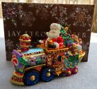 Jay Strongwater Santa on Train Ornament with Swarovski Elements New in Box