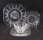 Federal COLUMBIA Depression Glass Set - 4 pc. Luncheon Bread Cup
