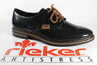 Rieker Womens Lace Up Shoes Low Shoes Sneakers Trainers Black Grey 50614 NEW