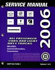 SHOP MANUAL 2006 GM SERVICE REPAIR BOOK TRANSMISSION AUTOMATIC CHEVROLET