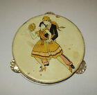 Antique vtg 1930s Tin Halloween Noise Maker Tambourine Dancing Couple Toy