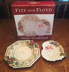 Fitz and Floyd Winter Wonderland Canape Plate and Server Set with Box Retired