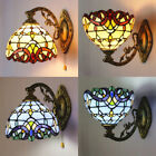 Mission Handcrafts Tiffany Style Stained Glass Wall Sconce Lamp Lighting Fixture