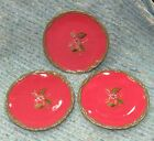 Lot of 3 Octavia Hill Garden Tracy Porter Salad Dessert Plates Red Fruit