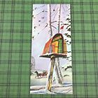 Vintage Mid Century Christmas Used Greeting Card Mailbox Stuffed With Gifts Snow