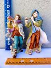 Thomas Kinkades Nativity Song of Peace  Song of Joy Musicians Set of 2