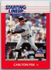 1988  CARLTON FISK - Kenner Starting Lineup Card - CHICAGO WHITE SOX