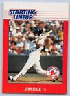 1988   JIM RICE - Kenner Starting Lineup Card - BOSTON RED SOX