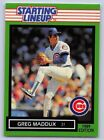 1989   GREG MADDUX - Kenner Starting Lineup Card - CHICAGO CUBS