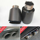 Auto Car Exhaust Tip Pipe Muffler 63mm 101mm Real Carbon Fiber Blue Steel End