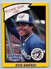 1990  JESSE BARFIELD - Kenner Starting Lineup Card -TORONTO BLUE JAYS - (Yellow)