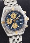 NOS Mens Breitling Crosswind SS/18K B13355 43mm Box & Papers