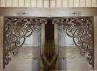 (2) Large Elegant Victorian Design Cast Iron Corbels, Heavy, Durable, 13