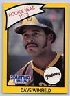 1990  DAVE WINFIELD - Kenner Starting Lineup Card - SAN DIEGO PADRES - (Yellow)