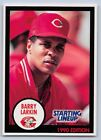 1990  BARRY LARKIN - Kenner Starting Lineup Card - CINCINNATI REDS - (BLUE)