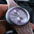 ALL STEEL TITUS DAY & 24 HOURS SPACE AGE QUARTZ LADY WATCH