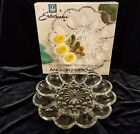 Vintage Anchor Hocking  Egg Plate 10 Inch Clear Glass W/BOX  EXCELLENT