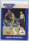1988  SIDNEY MONCRIEF - Kenner Starting Lineup Card - SLU - MILWAUKEE BUCKS