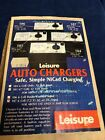 LEISURE 107 AUTO CHARGER R C RADIO CONTROL SAFE SIMPLE NICAD BATTERY CHARGER