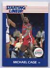 1988  MICHAEL CAGE - Kenner Starting Lineup Card - SLU - LOS ANGELES CLIPPERS