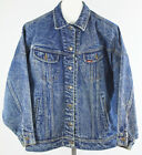 Vintage Mens Large Lee Denim Jean Jacket Riders Rockabilly Trucker Distressed