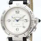 Cartier Pasha 38 Stainless Steel And Leather Automatic Men's Watch