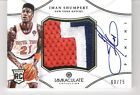 Iman Shumpert 2012-13 Panini Immaculate Autograph Numbers Patch 60 75 Auto RC