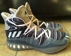 Adidas Crazy Explosive Boost Basketball Shoes Grey Black White AQ7746 Men Sz 14