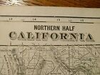 Vintage 1902 ~ CALIFORNIA ~ Map Antique Original 22