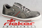 Rieker Mens Lace Up Shoes Sneakers Low Shoes Grey NEW
