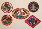 NASA PATCH LOT 5 Space Program  Shuttle STS Mission Embroidered Iron On Patches