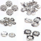 Lots Tibet Silver Plated DIY Metal Loose Spacer Bead Caps Jewelry Finding Design