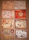 1 6 Scale Pirate Maps Set of 7 Pirates of the Caribbean Jack Sparrow Hot Toys