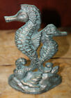 Cast Iron NAUTICAL SEAHORSE Doorstop Garden Statue Home Decor Book End Beach