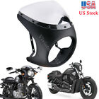 7'' Motorcycle Embryo Retro Cafe Racer Headlight Fairing ABS Screen Windshield