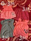 Baby Girl Carters Summer Romper Lot 3 Month 4 Pieces EUC FREE SHIPPING