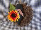 Grapevine Twig Wreath~Country Crow Sunflower