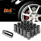 M12X125 Gunmetal JDM Open End Bulge Hex Wheel Lug Nuts+Extension 25mmx44mm 20Pc