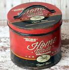 Red Canister Tin Storage Can Mom's Homemade Primitive Country Vintage style Sm